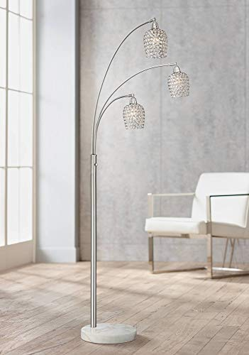 Possini Euro Cielo Brushed Nickel 3-Light Arc Floor Lamp - Possini Euro Design