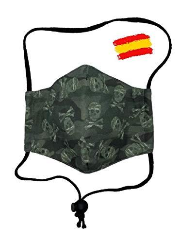 Mascarilla infantil de tela higiénica homologada UNE 0065 niño 10-12 años con filtro fijo lavable_marca: Brissa España: Amazon.es: Handmade