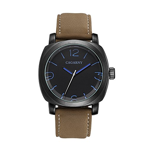 inous Hands Analog Quartz Wrist Watch with Tan Leather for Men,45mm (Date President White Gold Oyster)