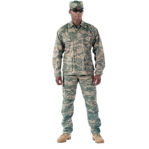 Rothco BDU Uniform Set - ACU Digital Camo - MED Camo Bdu Set Pants Shirt