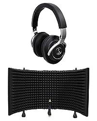 Audio Technica Ath-m70x Professional Studio Monitor Headphones Athm70x+shield