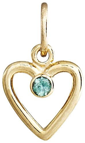 Helen Ficalora Birth Jewel Heart Charm With Alexandrite Yellow Gold by Helen Ficalora