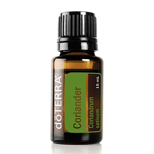 doTERRA - Coriander Essential Oil - Promotes Digestion, Helps Maintain a Clear Complexion, Promotes Relaxation; for Diffusion, Internal, or Topical Use - 15 - Oil Essential Sativum