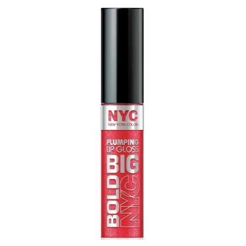 NYC Big Bold Plumping Lip Gloss, Supersized Red, .39 fl oz