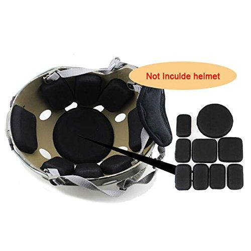 worldshopping4u Airsoft tactique militaire mémoire Casque de protection en mousse EVA Pad Coussins Noir