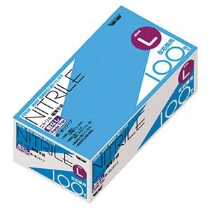 (業務用20セット) 川西工業 ニトリル極薄手袋 粉なし BL #2039 Lサイズ ブルー B07PHKCDK2