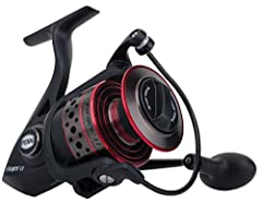 Whether you're a casual hobbyist or captain of a fishing charter, the Penn Fierce II Spinning Fishing Reel delivers the versatile drag, durability, and reliability you need to tame ferocious saltwater fish. Featuring a full metal body and pac...