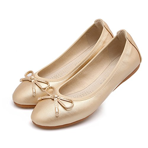 Eagsouni® Basse Flats up Party Scarpe After Oro Piegato Roll Ballerine Tascabile qwqFURP