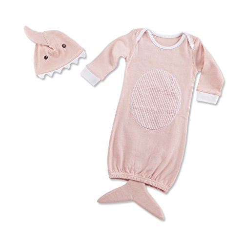 Baby Aspen Let The Fin Begin 2 Piece Layette Set, Pink