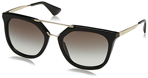 Prada 1AB0A7 Black / Gold 13QS Wayfarer Sunglasses Lens Category 2 Size - Sunglasses Mens Wayfarer Prada