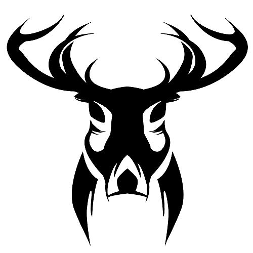 ck Head Wall Decals Forest Animal Hunting Themed Decor Silhouette Art Murals Vinyl Waterproof Wall Stickers for Kids Teens Rooms Nursery 16.1