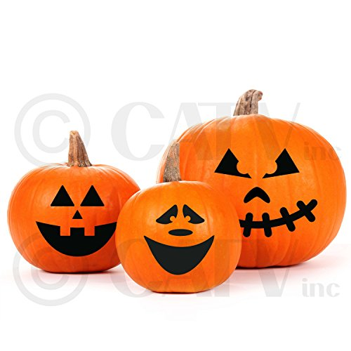Halloween Pumpkin Face Carving Vinyl Decorating (Faces To Paint On Pumpkins At Halloween)