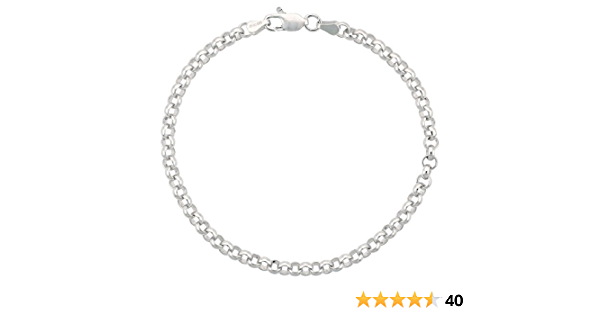 Details about  /Fine 925 Sterling Silver Diamond Cut Edge Rolo Necklace Italy chain many length