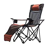 Fishing Chairs Beach Chair Backrest Lounge Chair Director's Chair Outdoor Folding Lounge Chair Can Bear 150 Kg Gift (Color : Brown, Size : 93 * 64 * 140cm)
