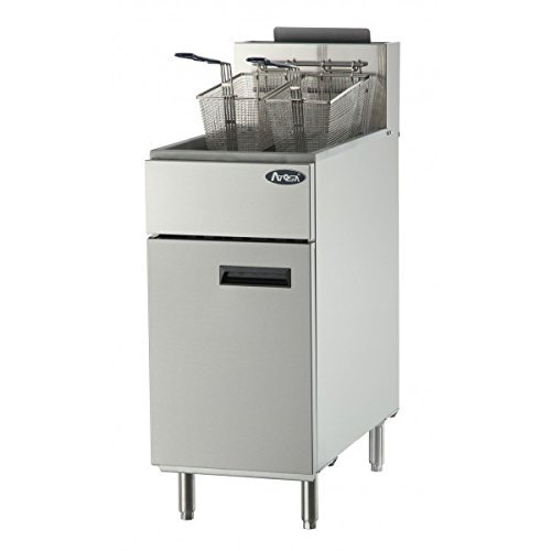 Atosa USA ATFS-40 Heavy Duty 40 LB Stainless Steel Deep Fryer - Propane by Atosa USA