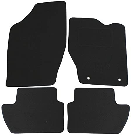 Black JVL Peut 307 Fully Tailored Car Mat Set with 2 Fix Holes Only