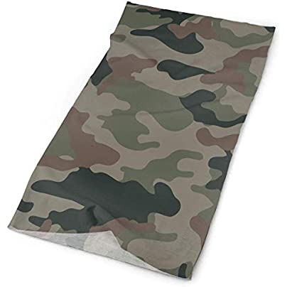Colour Green Jungle Army Camo Print Headband Unisex Headwrap Magic Head Scarf Bandana Headwear Neck Scarf Microfiber Rag Cap Travel Headdress Wristband Face Mask Neck Gaiter Estimated Price - £15.67
