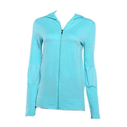 Chaqueta Laixing S Womens Zip L Sports Verde Shirt Gym Long M Running  Sleeve Hoodie Athletic rv4xqnPr 400b970b02dc