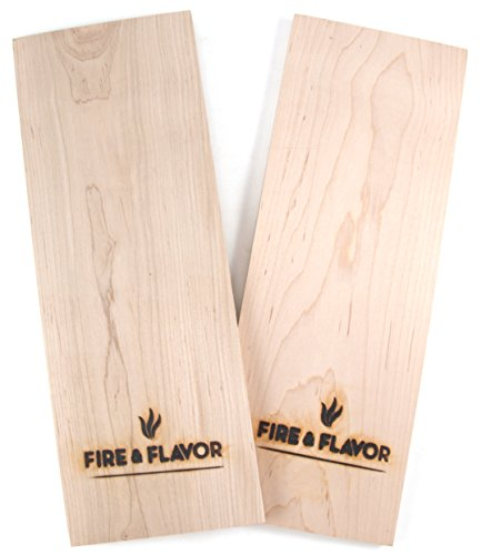 Fire & Flavor Maple 15'' Grilling Plank, Set of 2 by Fire & Flavor