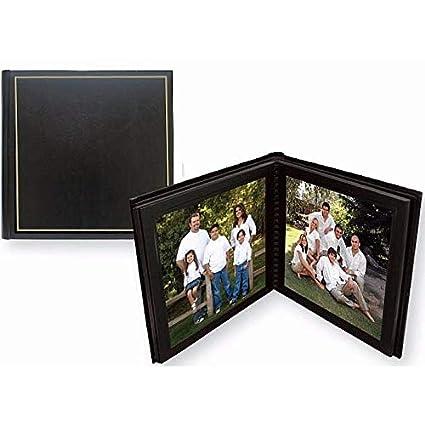 Professional PARADE Black/gold slip-in mat photo album for 20 prints - 8x10