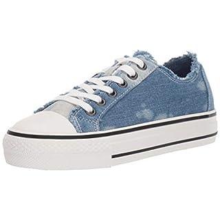 ASH Women's Viki BIS Sneaker, Blue, 38 M EU (8 US)