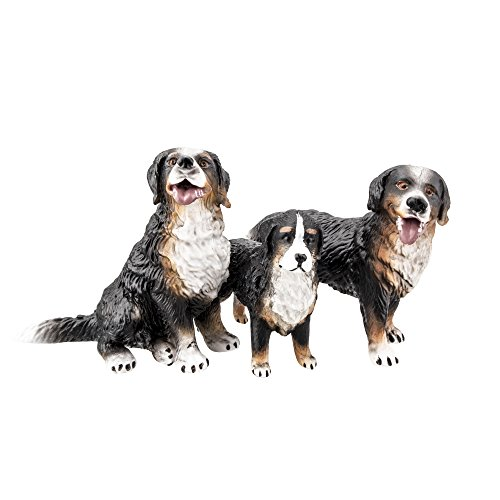 (TOYMANY Bernese Mountain Dog Figurines, Realistic Dog Toy Figures)
