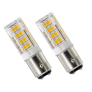 4W Ba15d LED Bulb 220V-240V Cool White 6000K 35W Halogen Equivalent Double Connect SBC B15 Small Bayonet LED Light Bulbs…