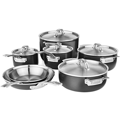 Viking Hard 5-ply Stainless Steel Cookware Set, 12-piece