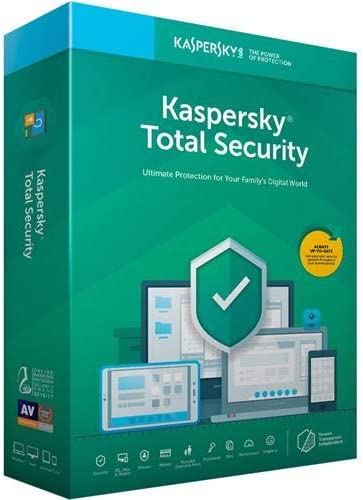 Kaspersky Total Security 2019 Software, 5 Devices, 1-Year License, Key Card Code 41g3BBKo8GL
