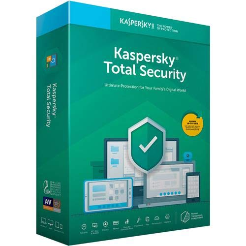 Kaspersky Total Security 2019 Software, 5 Devices, 1-Year License, Key Card Code