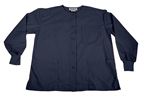 Natural Uniforms Women's Warm Up Jacket (Navy Blue) (X-Large) (Plus Sizes Available)