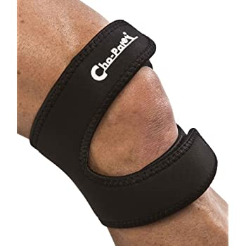 "Cho-Pat Dual Action Knee Strap – Provides Full Mobility & Pain Relief For Weakened Knees – Black (Medium, 14""-16"")"
