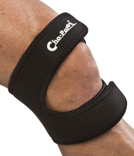 Cho-Pat Dual Action Knee Strap - Provides Full Mobility & Pain Relief For Weakened Knees - Black (Medium, -
