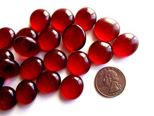 50 Ruby Red Mosaic Tiles, Flat Marble Glass Mosaic Pieces, Glass Gems, Mosaic Art Supplies, Tile Mosaic Supply, Mosaic Craft Tiles, Broken Dish Piece -