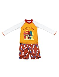 Baby Boys Long Sleeves Swimsuit - Kids 2 Pieces Swimwear Swim T-shirt and Trunks