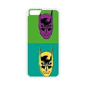 Batman Warhol Effect iPhone 6 Plus 5.5 Inch Cell Phone Case White phone component AU_577638