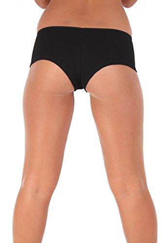 [Sexy Hot Booty Shorts Basic colors: Black XL] (Biker Babe Costume)