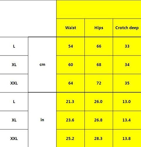 POKWAI 3 Paquetes De Ropa Interior Atractiva De Las Mujeres De Talle Alto De Encaje Transparente De La Tentación De Gran Tamaño De La Cadera Abdomen Ningún Rastro Briefs A4