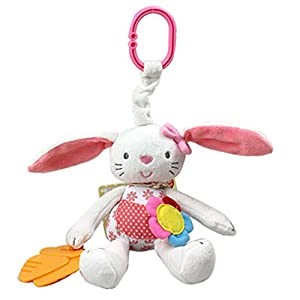 VWH Rabbit Baby Hanging Toys Prams Stroller Bed Spiral Activity Cartoon Plush Toy