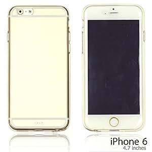 OnlineBestDigital - Colorful Gel Outlet with Hard Back Case for Apple iPhone 6 (4.7 inch)Smartphone - Transparent