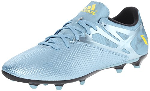 adidas Performance Men's Messi 15.3 FG/AG Soccer Shoe, Matt Ice Metallic F12/Bright Yellow/Core Black, 8.5 M US - Football Shoes Ag