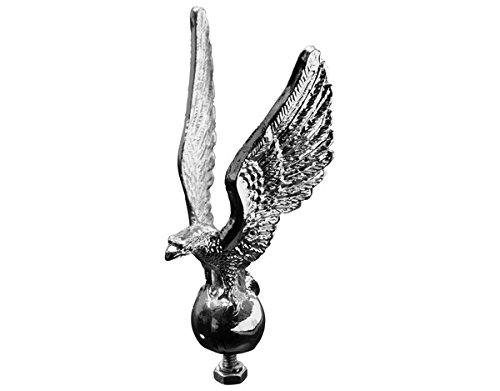 Eagle Fender Ornament - Highway Hawk 02-074 Standing Eagle Statue Fender/Hood Ornament