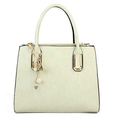 Craze London Cabas L Blanc Pour Femme ffrgwnUqB