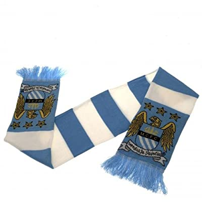 Manchester City FC Official Crest Retro Bar Scarf