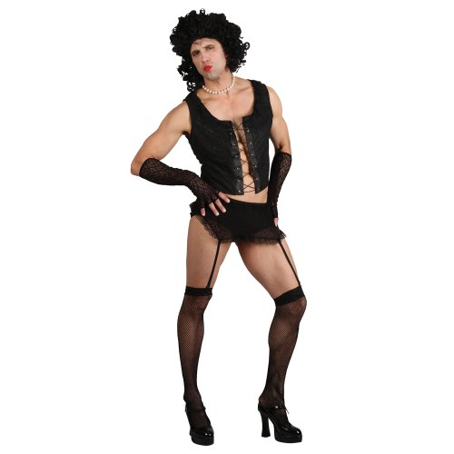 Funny Rock Guy with Wig (L) Fancy Dress Stag Costume (Dress Rocky Horror)