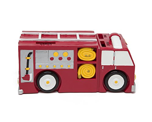 Fire Truck Coin Bank - Coin Bank for Boys - Teach Financial Literacy for Kids - Perfect Kids Money Bank - Piggy Bank of the Future by Money Scholar