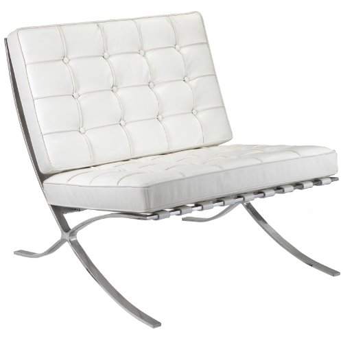 M331 Lounge Chair in White Leather