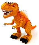 Vabliss Electronic Walking T-Rex Jurassic Dinosaur Toy Figure with LED Lights & Realistic Sounds Real Movement Action Toy Tyrannosaurus Rex Toy Figure for Kids Boys&Girls, Best Children