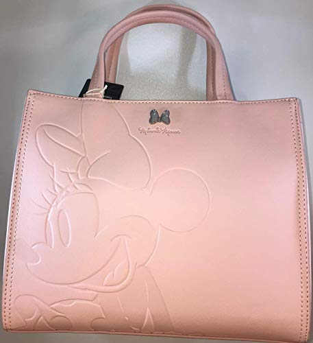 Loungefly Disney Minnie Mouse Faux Leather Saffiano Tote Bag Purse - WDTB1797