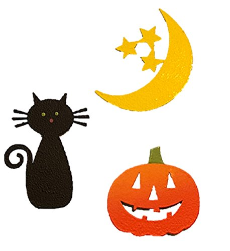 Roeda Brighten Your Life 13400M Halloween Icons Set of 3 Assorted Magnetic Embellishments Made in USA ()